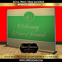 Green and Gold Royal Prince Backdrop